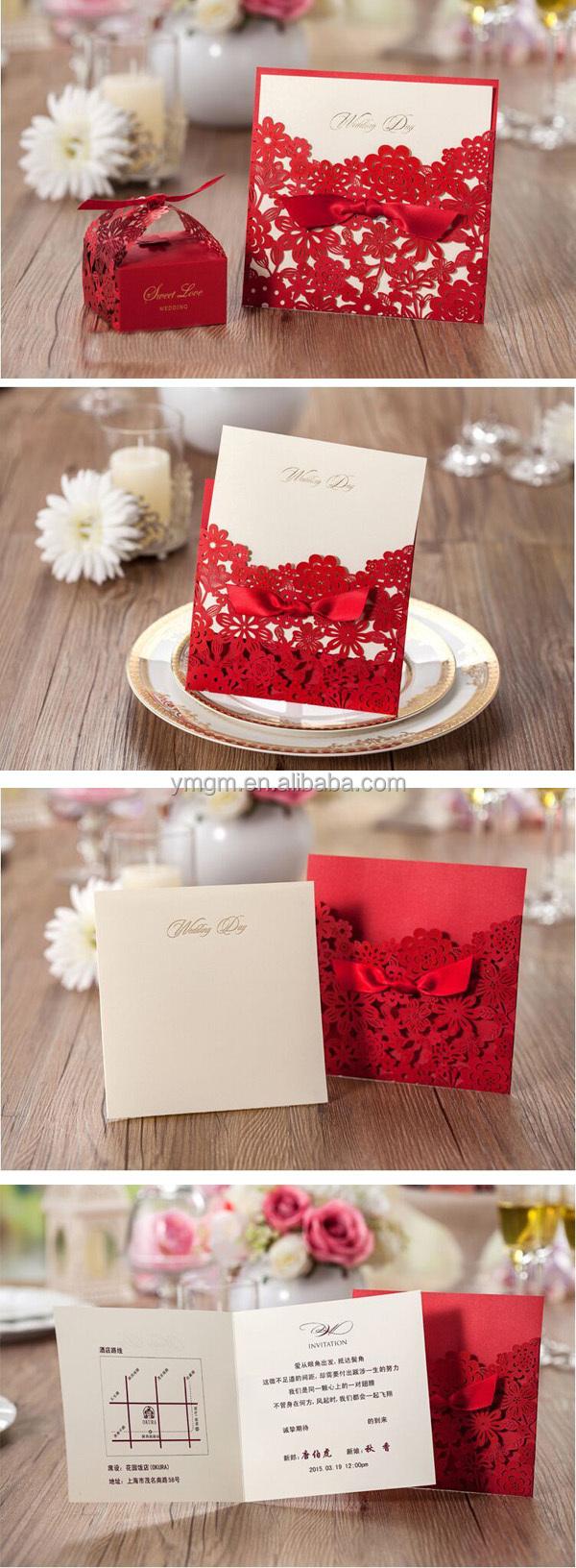 Simple White Folded Letterpress Meeting Invitation Card - Buy ...
