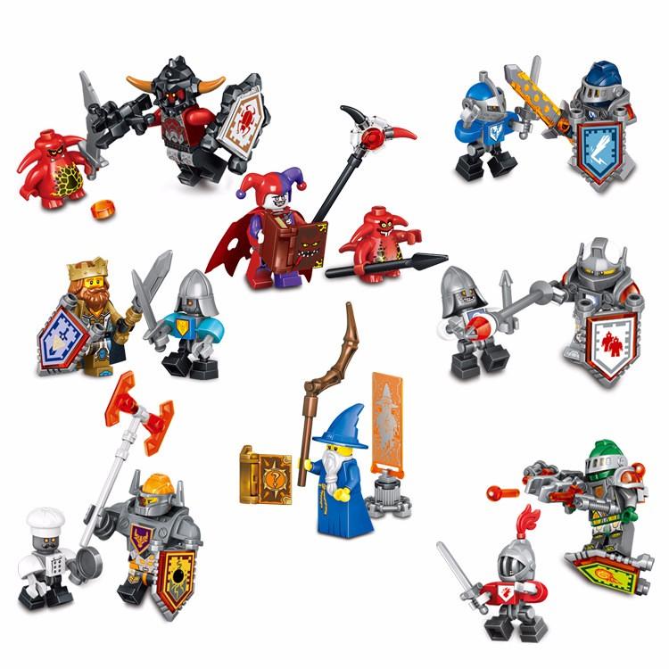 UKLego Nexo Knights Future Shield figures Building Blocks Castle Warrior Nexus Kids Toys.
