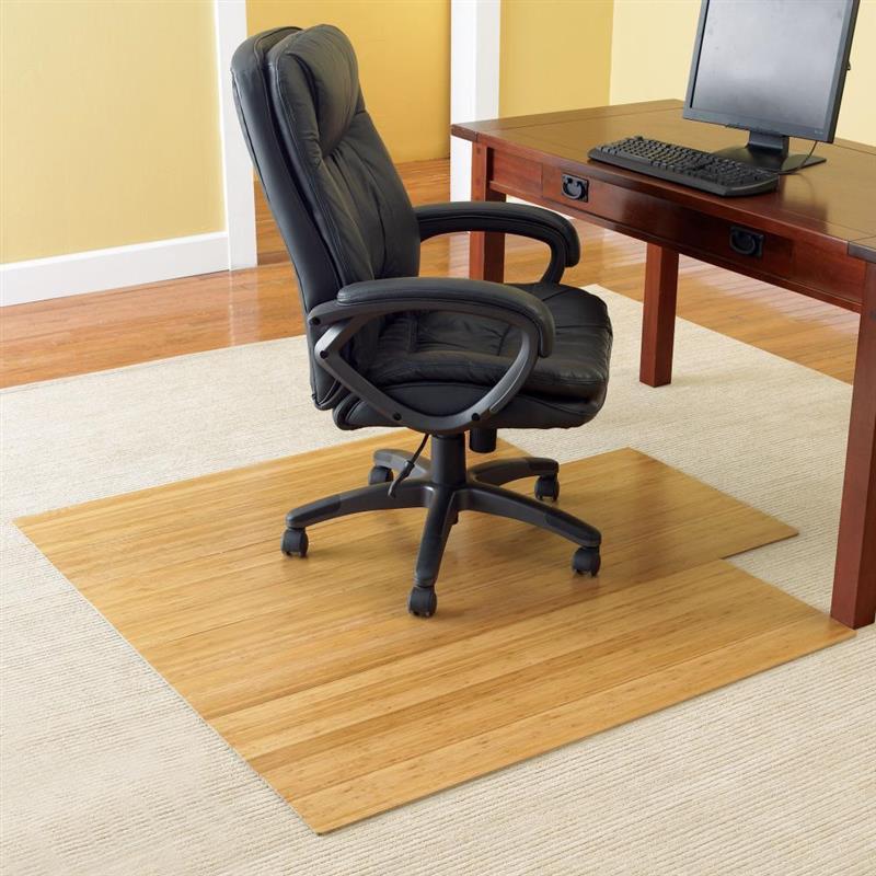 Soft Hard Floor Office Wooden Chair Mat