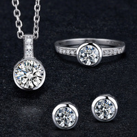 Latest Products 925 Sterling Silver Cheap Wholesale Cubic Zirconia Jewellery Set