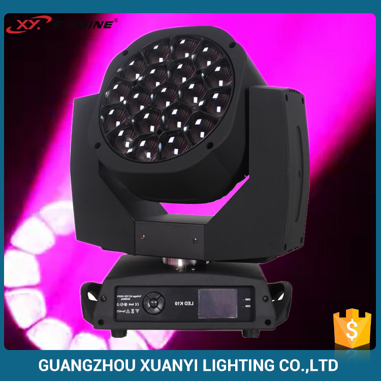Bee Eye 19pcs 15w Led Moving Head Stage Light / Disco Lighting Equipment