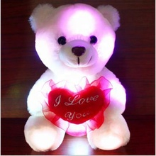 San Valentino Registrazione Audio LED Colorato Peluche <span class=keywords><strong>Teddy</strong></span> Bear