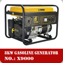 2018 China air cooled AC single phase 220V 15hp 7kva power max generator
