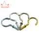 metal hook brass hook small wall screw cup hook