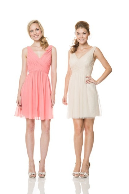 Get Quotations Custom Made Y Spaghetti Strap Open Back Short Peach Colored Chiffon Bridesmaid Dress Knee Length