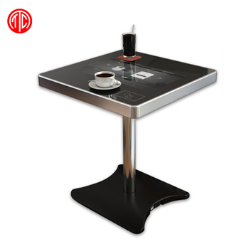 22 Inch Touch Table LCD Interactive Coffee Table With Video Display Screen  Bluetooth
