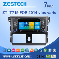 made in china car dvd player/car charger portable dvd player/car radio dvd cd gps for toyota vios yaris 2014