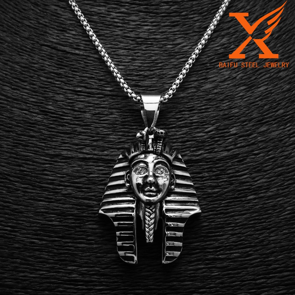 Best Selling Products In America <strong>Fashion</strong> Men's Stainless Steel Black Silver Hip Hop Egypt Pendants Large Size and Medium Size