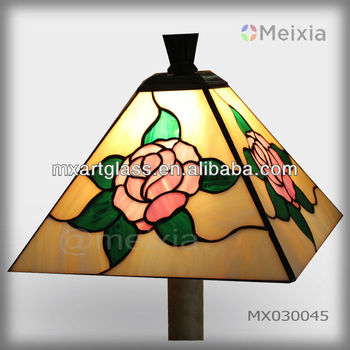 mx030009 china wholesale tiffany style stained glass rose lamp shade