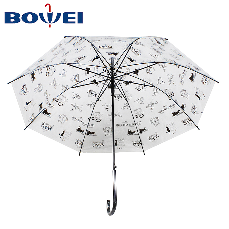 Reliable quality wholesale price fashion rainproof transparent clear poe material for lady