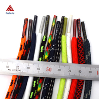 Bulk custom printed running shoes accessory elastic round shoelaces