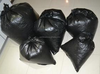 Custom heavy duty plastic bags for garbage Black Color with gusset