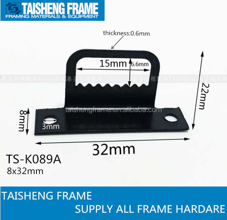 tsk089a photo frame hardware picture frame black 7 shape saw tooth hanging <strong>hook</strong> 8x32mm