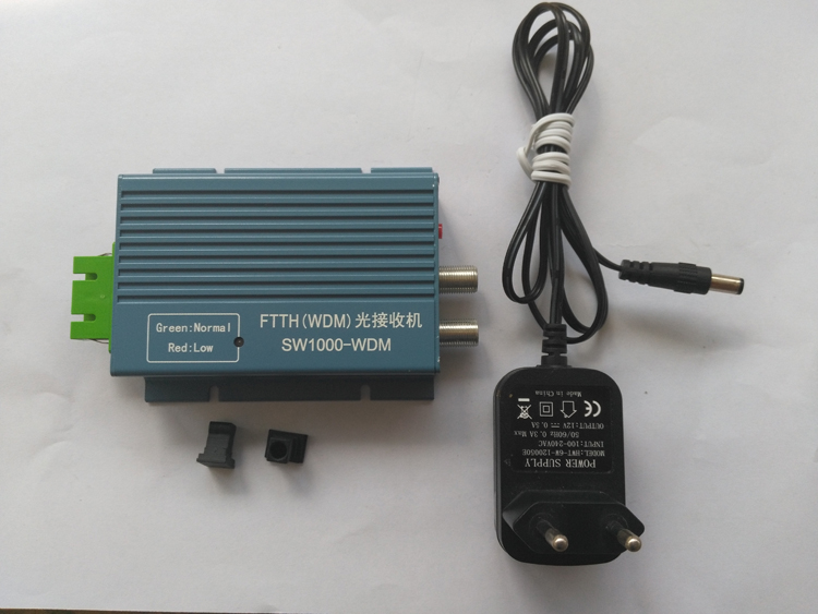 Mini Indoor Active FTTH 2 Way Output CATV Optical Receiver Node with FWDM Function