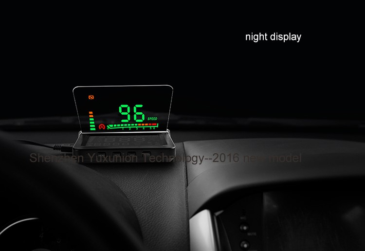 2016 hud head up display with obd2 interface large screen. Black Bedroom Furniture Sets. Home Design Ideas