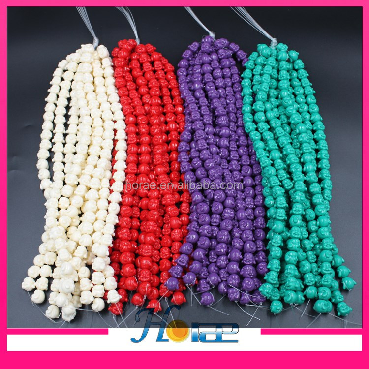 wholesale carved Buddha beads synthetic coral gemstone jewelry <strong>stones</strong>