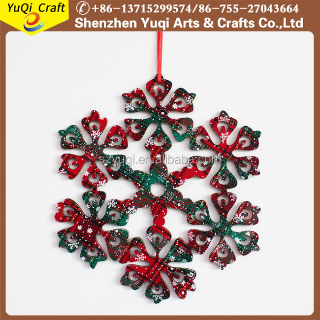 New Products Snowflake Christmas Ornaments Xmas Tree Hanging Decoration