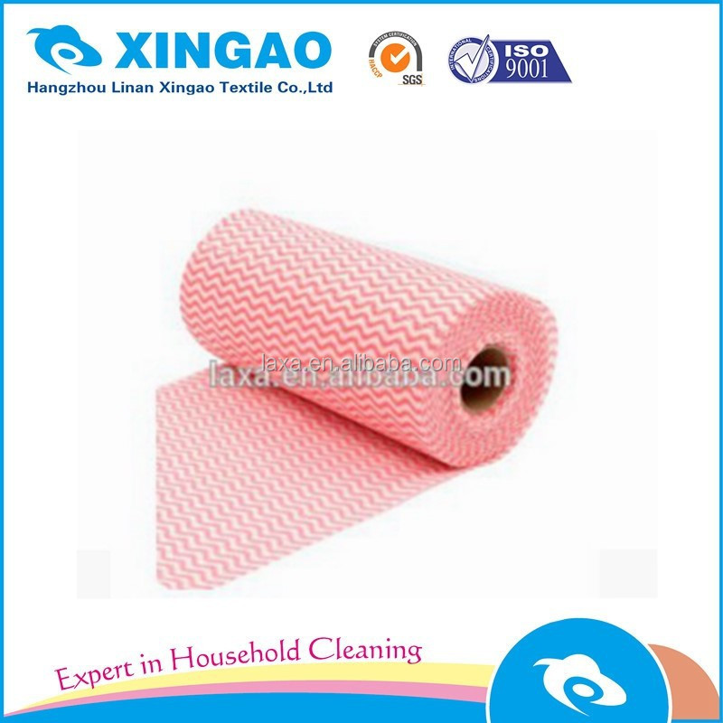 OEM Bamboo kitchen cleaning cloth in rolls for household usage