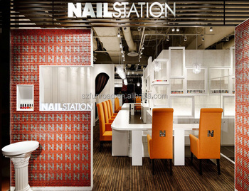 Small Nail Bar Layout Shopping Mall Beauty Station For Hot Sale