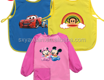 Customized Logo Printing Children Painting Cotton Kids Apron with Pocket