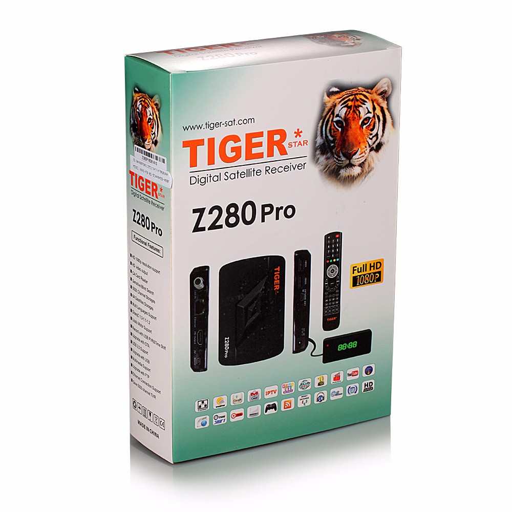 Tiger Decoder Z280Pro hd mini set top box Satellite Receiver Box