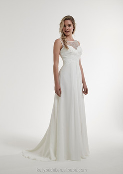 5fa97a82458c ZM16139 chiffon grecian style wedding dresses pleated simple high waist  open back beach casual wedding dresses