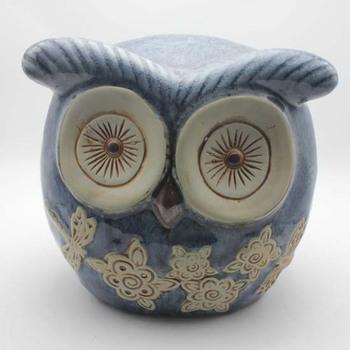 Superior Ceramic Owl Outdoor Garden Decor