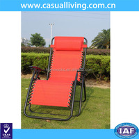 Red folding comfortable recliner chair, lounge chair