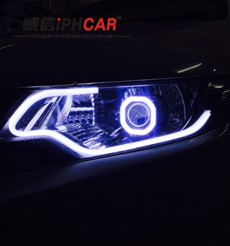 peugeot 308 angel eyes projector lens h7 with hid bi-xenon bulbs