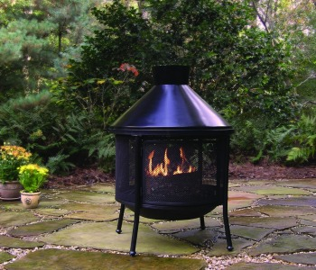 Steel Wood Burning Outdoor Fireplace Fire Pit Trade