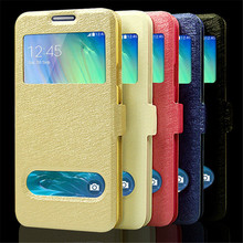 mobile phone case for samsung galaxy a3 case, colorful leather a300 a300f a300h luxury open window view original flip cover