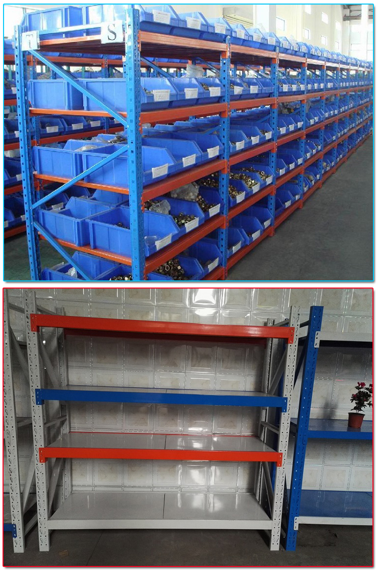Stacking Selective Warehouse Medium Duty Auto Parts Storage Rack and Storage Shelf