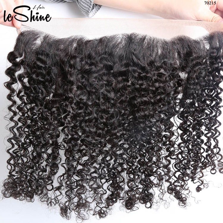 Tangle Free Natural Human Unprocessed 360 Lace Frontal Closure Colored Three Tone Curly Kinky Hair Weave