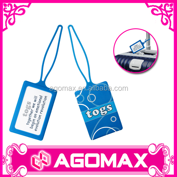 Customize printing travel baggage tag photo luggage tag factory