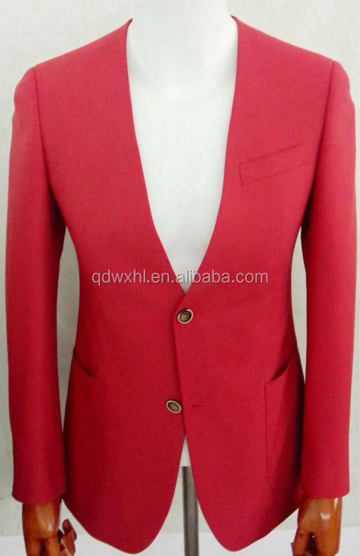 New Design Slim-fit Coat Men Suit,Custom Tailored Red Wedding Suit ...