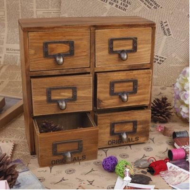 Popular Wood Desktop Organizer With Drawers-Buy Cheap Wood