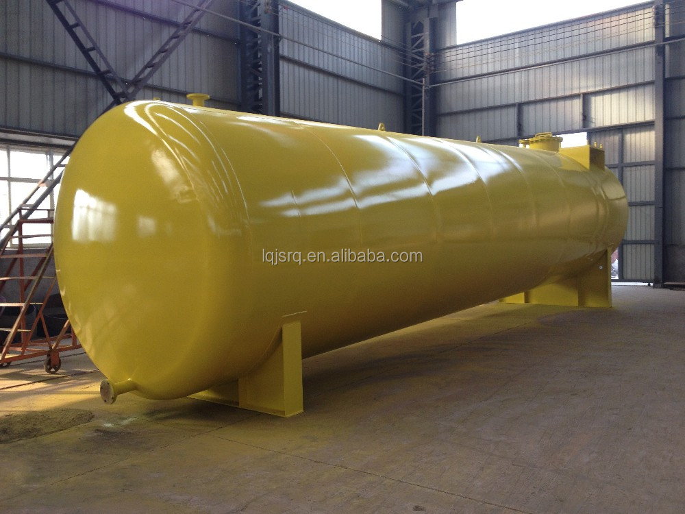 FRP double wall underground fuel steel tank for gas station