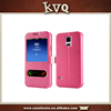 flip phone Case with Stand/flip leather case for xiaomi mi4i with Window View Smart Case