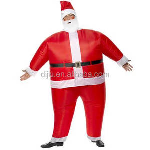 2017 high quality mascot cheap have a christmas hat and white beard inflatable santa claus costume