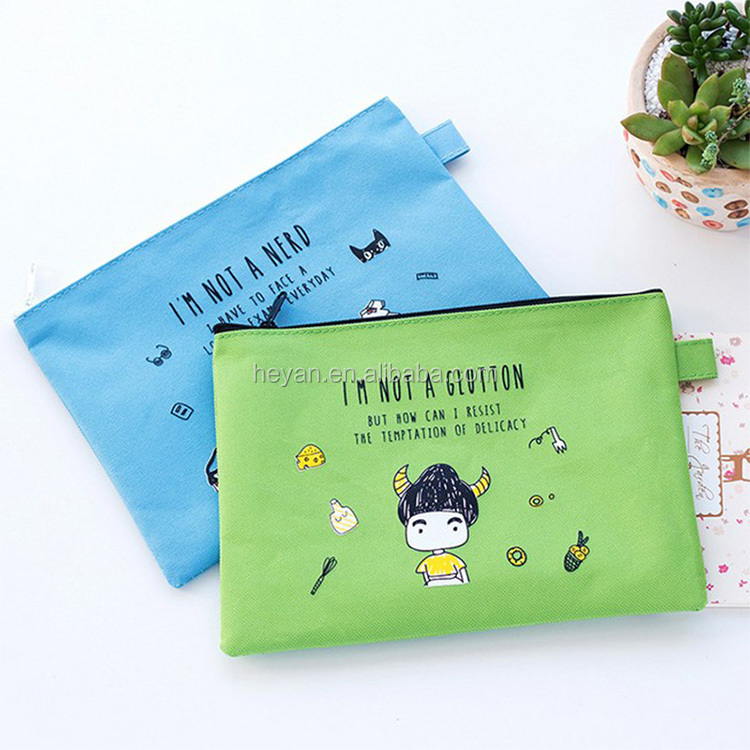 Fashion nylon oxford 600D zipper pencil stationery organizer bags