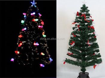 180cmlighted pine cone fiber optic christmas tree bowknot lighting colour pine cone christmas tree