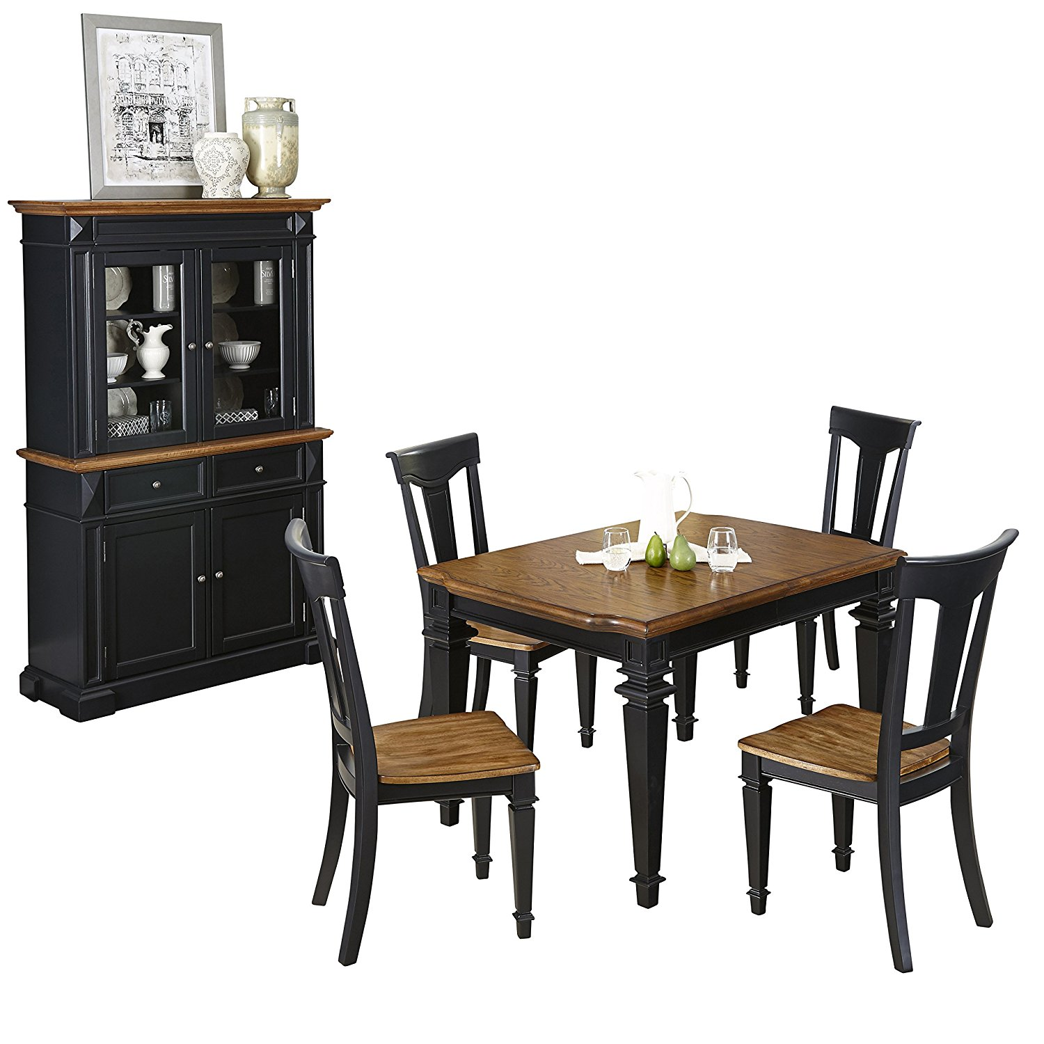 Get Quotations · Home Styles 5003 3487 5 Piece Americana Dining Set With  Buffet And Hutch,