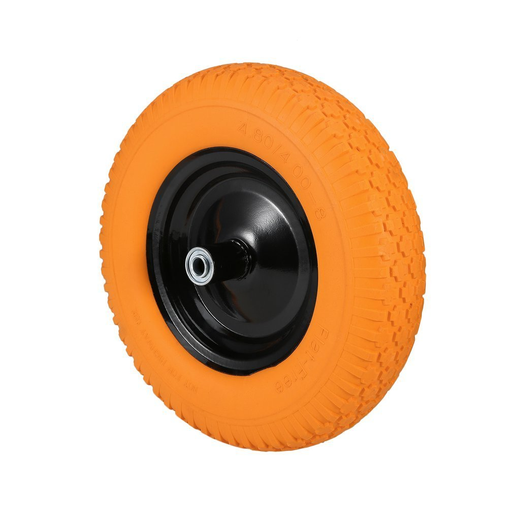 Get Quotations Tatayung Wheelbarrow Wheels 16 Flat Free Wheel Barrow Tire Foamed Polyurethane