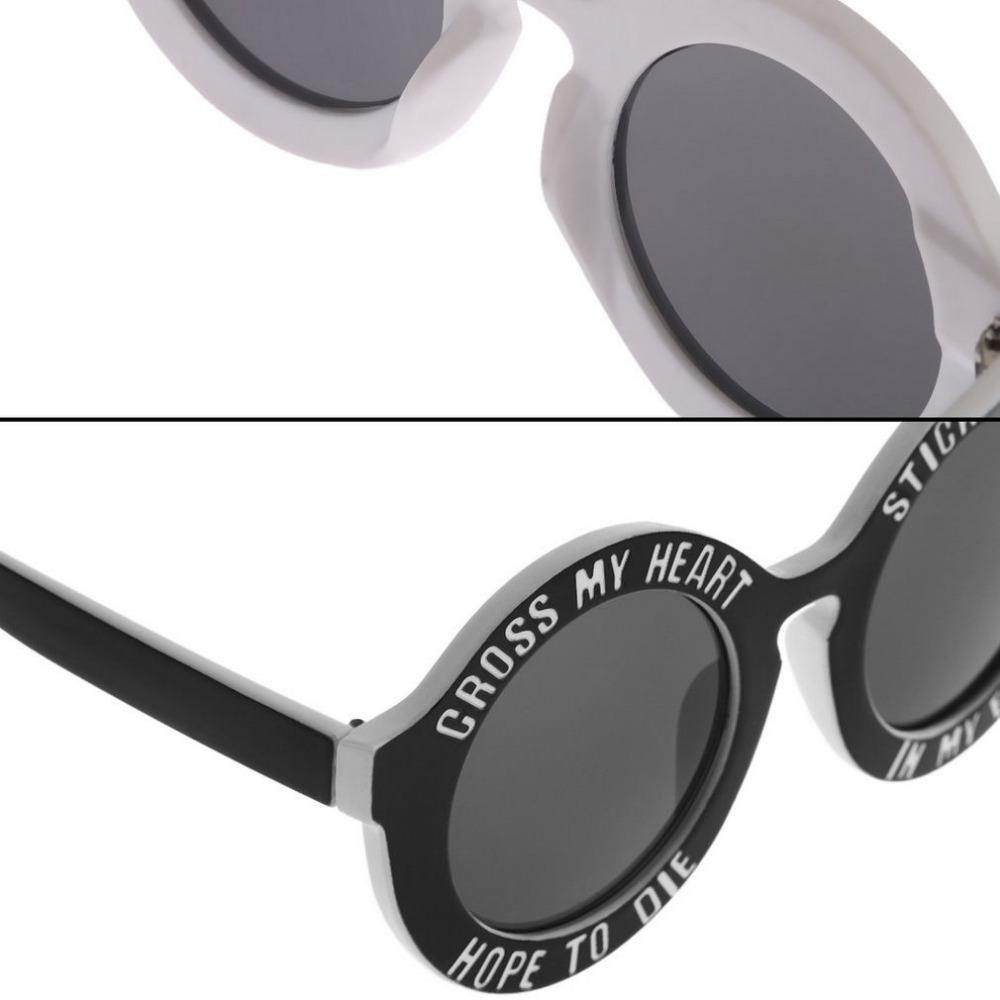 Schöne Runde Retro Rahmen Sonnenbrille Lustige Briefe Sommer Kühl ...