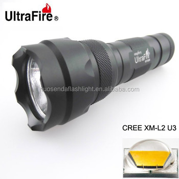UltraFire WF-502B 1xCREE XM-L2 U3 1600lm OP LED Flashlight (1 x 18650)