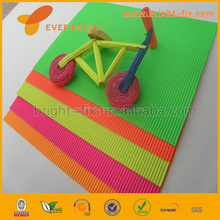 Diy toys color corrugated paper/corrugated paper rolls/S&Q Colored Flute Corrugated Paper