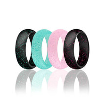 Bunte glow in the dark silikon hochzeit ring