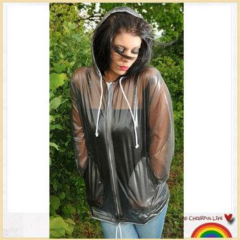 a72a5a0fc Sex And Women Hooded Pvc Raincoat - Buy Semi-transparent Vinyl ...