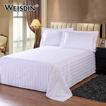 Factory Wholesale Custom White King Size Bed Set Hotel Bedding Cotton Bed  Sheets