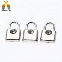 Custom Silver Plated Metal Blank Lock Shape Pendant